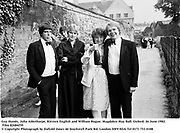 Guy Hands, Julia Ablethorpe, Kirsten English and William Hague. Magdalen May Ball. Oxford. 26 June 1982. Film 82484f39<br />© Copyright Photograph by Dafydd Jones<br />66 Stockwell Park Rd. London SW9 0DA<br />Tel 0171 733 0108