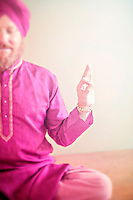 """Man holding the sacred yoga mudra.<br /> :::<br /> """"Do everything as if it were the only thing in the world that mattered, <br /> while all the time knowing that it doesn't matter at all.""""<br /> ~ Pema Chodron"""