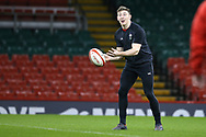 Josh Adams of Wales during the Wales rugby team captains run at the Principality Stadium  in Cardiff , South Wales on Friday 2nd February 2018.  the team are preparing for their opening Natwest 6 Nations 2018 championship match against Scotland tomorrow.   pic by Andrew Orchard
