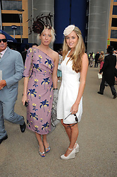 Left to right, the HON.SOPHIA HESKETH and FLORENCE BRUDENELL-BRUCE at the ist day of the 2008 Royal Ascot racing festival on 17th June 2008.<br />