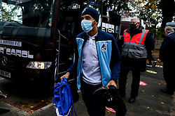 Jayden Mitchell-Lawson of Bristol Rovers arrives at Rochdale - Mandatory by-line: Robbie Stephenson/JMP - 31/10/2020 - FOOTBALL - Crown Oil Arena - Rochdale, England - Rochdale v Bristol Rovers - Sky Bet League One