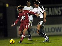 Photo: Olly Greenwood.<br />Leyton Orient v Bristol City. Coca Cola League 1. 01/11/2006. Leyton Orient's Matt Lockwood and Bristol's Barry Corr