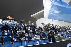 Fans under kampen i 1. Division mellem FC Helsingør og Fremad Amager den 27. november 2020 på Helsingør Stadion (Foto: Claus Birch).