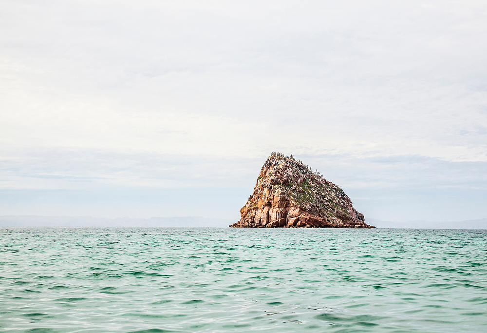 A small island off the West side of Isla Espiritu Santo, BCS, Mexico.