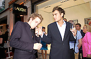 Edward Lawson-Johnston and Oscar Humphries, Lalique Twenties launch, New Bond St. 4 June 2003. © Copyright Photograph by Dafydd Jones 66 Stockwell Park Rd. London SW9 0DA Tel 020 7733 0108 www.dafjones.com