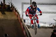 #89 (BONDARENKO Yaroslava) RUS at the 2018 UCI BMX Superscross World Cup in Saint-Quentin-En-Yvelines, France.