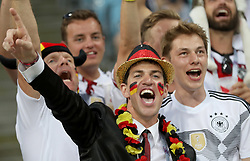 SOCHI, June 23, 2018  Fans of Germany cheer during the 2018 FIFA World Cup Group F match between Germany and Sweden in Sochi, Russia, June 23, 2018. Germany won 2-1. (Credit Image: © Fei Maohua/Xinhua via ZUMA Wire)