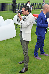 DOMINIC COOPER at the Audi International Polo at Guards Polo Club, Windsor Great Park, Egham, Surrey on 26th July 2014.