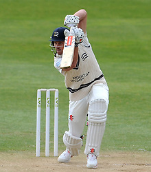 Middlesex's Nick Compton drives the ball. - Photo mandatory by-line: Harry Trump/JMP - Mobile: 07966 386802 - 29/04/15 - SPORT - CRICKET - LVCC Division One - County Championship - Somerset v Middlesex - Day 4 - The County Ground, Taunton, England.