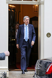 © Licensed to London News Pictures. 14/11/2018. London, UK. Philip Hammond - Chancellor departs from Downing Street attend Prime Minister's Questions (PMQs) in the House of Commons. Photo credit: Dinendra Haria/LNP