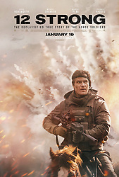 RELEASE DATE: January 19, 2018 TITLE: 12 Strong STUDIO: Lionsgate DIRECTOR: Nicolai Fuglsig PLOT: 12 Strong tells the story of the first Special Forces team deployed to Afghanistan after 9/11; under the leadership of a new captain, the team must work with an Afghan warlord to take down the Taliban. STARRING: Chris Hemsworth, Michael Shannon, Michael Pena. (Credit Image: © Lionsgate/Entertainment Pictures/ZUMAPRESS.com)
