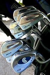 Conjunto de tacos disponíveis no XIII Aberto do Belém Novo Golf Club.  FOTO: Itamar Aguiar/Preview.com