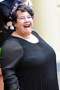 Prinsjesdag 2014 - Aankomst Politici op het Binnenhof.<br /> <br /> Op de foto: Staatssecretaris Sharon Dijksma (Economische Zaken)