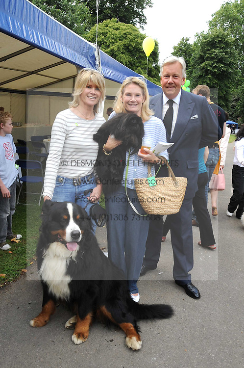Left to right, LADY CHARLOTTE DINAN with her dog Bilko,  LADY MARY-GAYE CURZON and her dog Poppet and DAVID McDONOUGH at the Macmillan Dog Day in aid of Macmillan Cancer Support held at the Royal Hospital Chelsea, London on 8th July 2008.<br /><br />NON EXCLUSIVE - WORLD RIGHTS