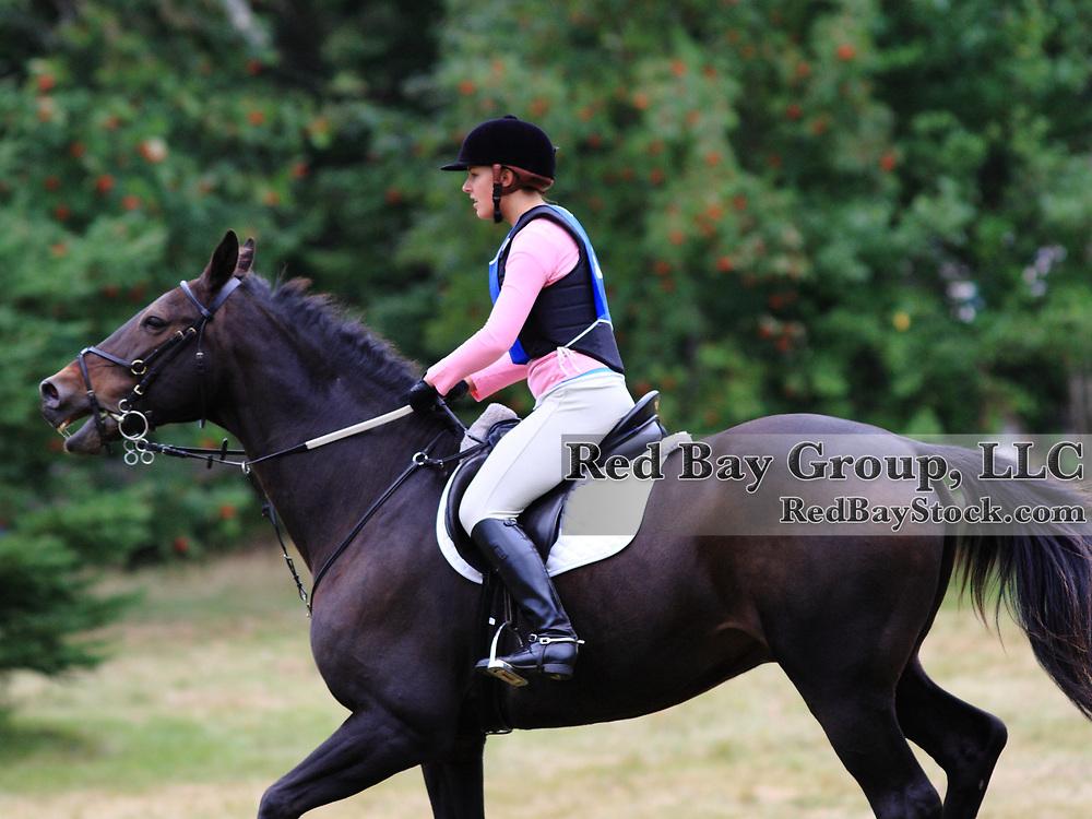 Kara Wilson and Kolumb at the 2009 Strathgartney Autmn Horse Trials in Bonshaw, PEI.