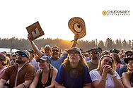 Crowd enjoying Emmylou Harris at the Under The Big Sky Music Festival in Whitefish, Montana, USA