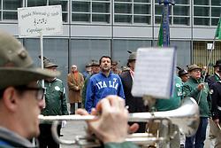 May 13, 2019 - Milan - ALPINE ADUNATA MATTEO SALVINI IN SURPRISE BETWEEN THE ALPINIS IN PALAZZO LOMBARDIA ASSISTED BANDS AT CONCERTO THIS MORNING AT 1100 (PAOLO SALMOIRAGO/Fotogramma, MILAN - 2019-05-11) p.s. la foto e' utilizzabile nel rispetto del contesto in cui e' stata scattata, e senza intento diffamatorio del decoro delle persone rappresentate (Credit Image: © Paolo Salmoirago/IPA via ZUMA Press)
