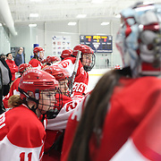 The Boston University bench during the UConn Vs Boston University, Women's Ice Hockey game at Mark Edward Freitas Ice Forum, Storrs, Connecticut, USA. 5th December 2015. Photo Tim Clayton