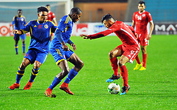 March 22, 2019 - Rades, Tunisia - Anice Badri(9) of Tunisia and Ngwenya Sizowakhe during the Match Tunisia vs Eswatini at the Rades Olympic stadium in the last qualifying round of the 2019 African Nations Cup finals vs. Tun vs Eswatini 4/0. (Credit Image: © Chokri Mahjoub/ZUMA Wire)
