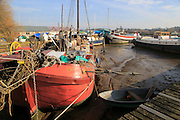 Houseboats on the  River Deben, Melton near Woodbridge, Suffolk, UK