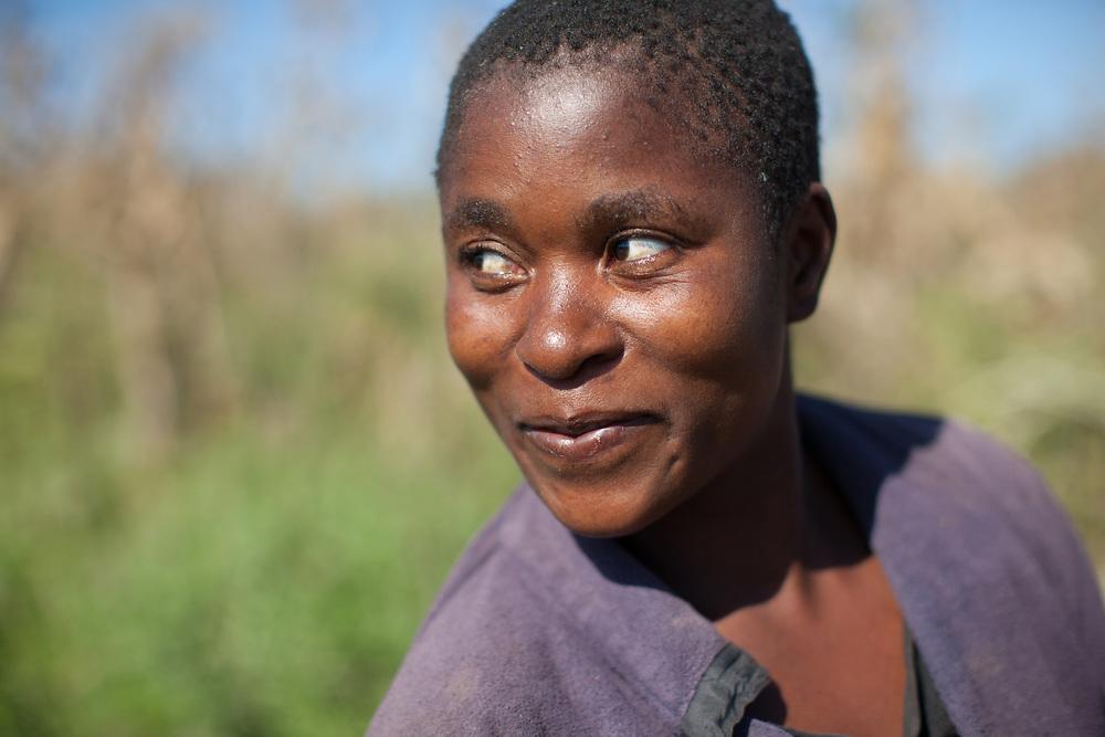 Portrait of a woman in M'nchere village, Malawi