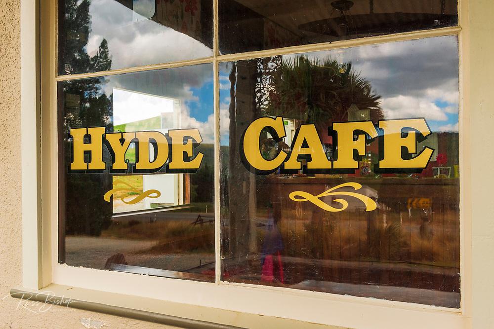 The Hyde Cafe on the Otago Central Rail Trail, Otago, South Island, New Zealand