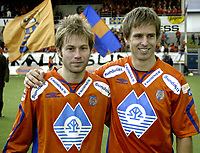 Fotball<br /> Adeccoligaen 2006 <br /> 29.10.2006<br /> Aalesund v Kongsvinger 3-3<br /> Foto: Richard Brevik - Digitalsport<br /> <br /> Karl oskar fjørtoft - aalesund<br /> Joakim austnes - aalesund