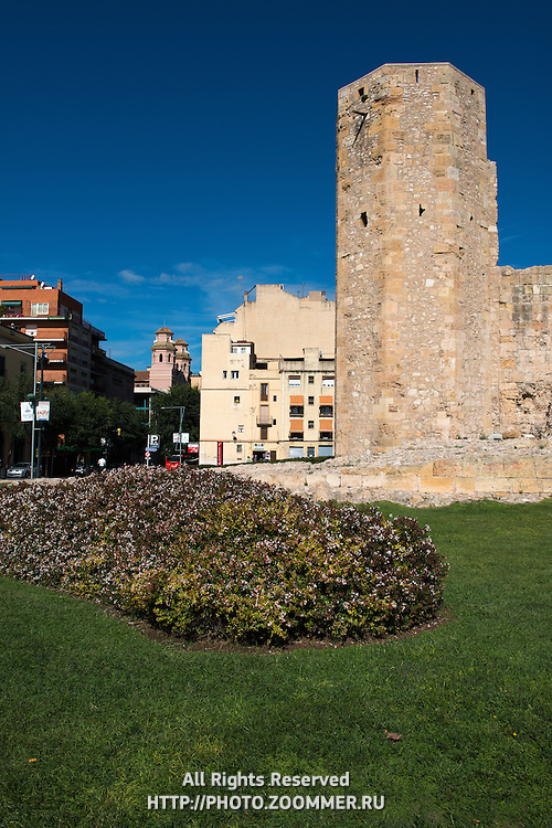Old Roman monk tower site in Tarragona, Spain