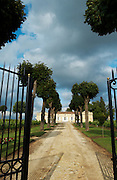 gate entrance chateau trottevieille saint emilion bordeaux france