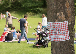 To mark the anniversary of the murder Jo Cox MP her family and friends invited people across the country to organise or attend a celebration in their community on 17-18 June. In Portobello, Edinburgh, local resident and former colleague of Jo Cox, Kim Wallace, organised a picnic for families in Figgate Park.<br /> <br /> <br /> © Jon Davey/ EEm