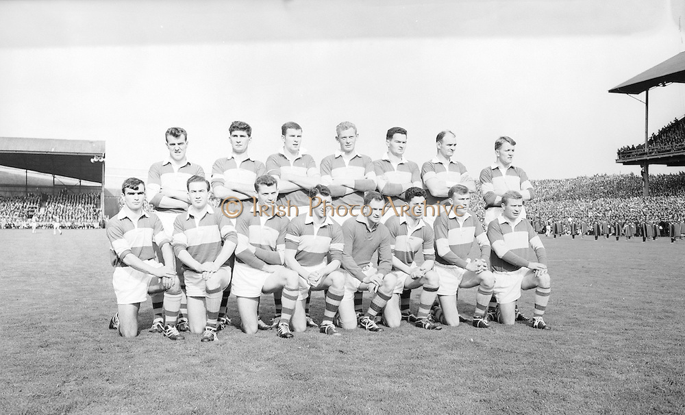 The Kerry team before the All Ireland Minor Gaelic football final Derry v. Kerry in Croke park on the 26th September 1965. <br />