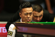 Marco Fu (HK) looking on, Marco Fu (HK) v Mark Allen (NI) , Quarter-Final match at the Dafabet Masters Snooker 2017, at Alexandra Palace in London on Thursday 19th January 2017.<br /> pic by John Patrick Fletcher, Andrew Orchard sports photography.