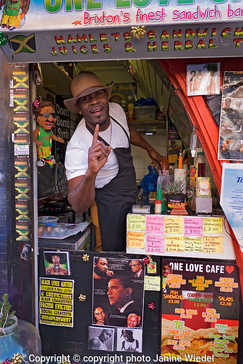 The one love cafe in Station Road  Brixton South London