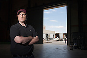 """Kevin Feige, president of Marvel Studios and a comics enthusiast, during a break on the set of Marvel's next movie """"The Avengers"""" in Albuquerque, N.M., July 14, 2011."""