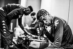 Levi Bradley of Bristol Flyers prepares in the changing room prior to tip off - Photo mandatory by-line: Ryan Hiscott/JMP - 26/01/2020 - BASKETBALL - Arena Birmingham - Birmingham, England - Bristol Flyers v Worcester Wolves - British Basketball League Cup Final