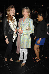 Left to right, LADY LUCY ALEXANDER and her mother COUNTESS ALEXANDER OF TUNIS at the opening of the new Gaucho restaurant at the O2 Arena, London on 15th May 2008.<br />
