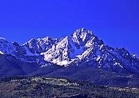 14,150 ft. Mount Sneffels of the Sneffels Range, San Juan Mountains, Colorado.