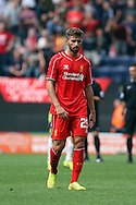 Liverpool's Fabio Borini in action. Pre-season friendly match, Preston North End v Liverpool at Deepdale in Preston, England on Saturday 19th July 2014.<br /> pic by Chris Stading, Andrew Orchard sports photography.