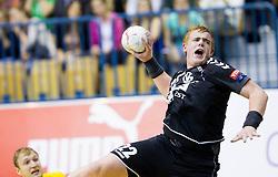 Matej Gaber of Gorenje during handball match between RK Celje Pivovarna Lasko and RK Gorenje Velenje in 5th Round of 1. NLB Leasing Handball League 2012/13 on October 3, 2012 in Arena Zlatorog, Celje, Slovenia. (Photo By Vid Ponikvar / Sportida)