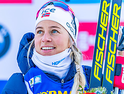 15.01.2020, Chiemgau Arena, Ruhpolding, GER, IBU Weltcup Biathlon, Sprint, Damen, Siegerehrung, im Bild Tiril Eckhoff (NOR) // Tiril Eckhoff of Norway during the winner ceremony for the women sprint competition of BMW IBU Biathlon World Cup at the Chiemgau Arena in Ruhpolding, Germany on 2020/01/15. EXPA Pictures © 2020, PhotoCredit: EXPA/ Stefan Adelsberger