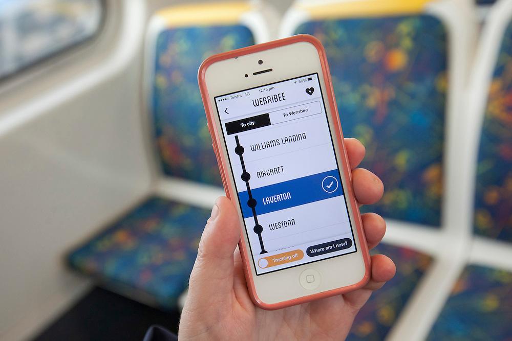 """Stop Here"" app shoot, Melbourne"