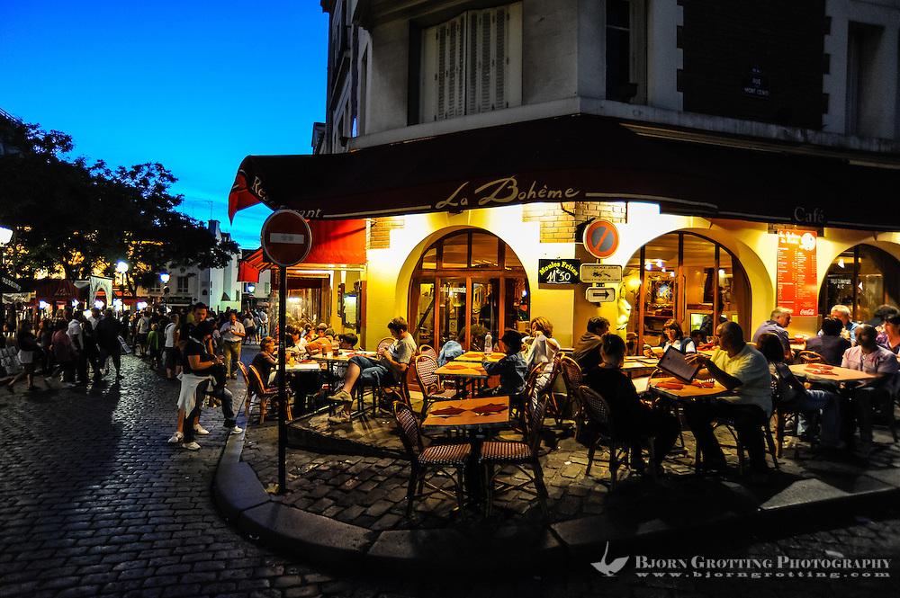 Paris, France. Montmartre below Sacre-Coeur.