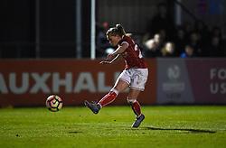 Millie Farrow of Bristol City Women takes a shot at goal - Mandatory by-line: Paul Knight/JMP - 28/03/2018 - FOOTBALL - Stoke Gifford Stadium - Bristol, England - Bristol City Women v Birmingham City Ladies - FA Women's Super League