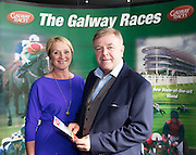 Easyfix's Michael  Earls and wife Maureen in the g hotel for the launch of The Galway Races 2016 Summer Festival which runs from the 25th of July to the 31st of July in Galway City. Photo: Andrew Downes :