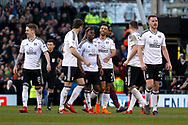 Fulham players celebrate a halfway line goal from Fulham midfielder Floyd Ayite (11) (score 2-0)  during the EFL Sky Bet Championship match between Fulham and Aston Villa at Craven Cottage, London, England on 17 February 2018. Picture by Andy Walter.