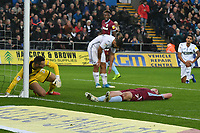 Football - 2018 / 2019 Championship - Swansea City vs Aston Villa<br /> … at the Liberty Stadium.<br /> <br /> John McGinn of Aston Villa lies prone on the pitch after his shot is saved by  Erwin Mulder of Swansea City<br /> <br /> Credit: COLORSPORT/Winston Bynorth