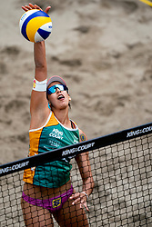 """Eduarda Santos Lisboa """"Duda"""" BRA in action during the second day of the beach volleyball event King of the Court at Jaarbeursplein on September 10, 2020 in Utrecht."""