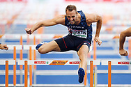 Romain Martin competes in men decathlon (110m hurdles) during the European Championships 2018, at Olympic Stadium in Berlin, Germany, Day 2, on August 8, 2018 - Photo Philippe Millereau / KMSP / ProSportsImages / DPPI
