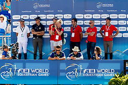 Sprunger Janika, SUI, Bacardi VDL, Kistler Andy, SUI, Fuchs Martin, SUI, Guerdat Steve, SUI<br /> World Equestrian Games - Tryon 2018<br /> © Hippo Foto - Dirk Caremans<br /> 19/09/2018