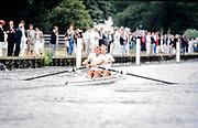 Henley. England, 1989 Henley Royal Regatta, River Thames, Henley Reach,  [© Peter Spurrier/Intersport Images], The Silver Goblets & Nickalls' Challenge Cup, Bow Simon BERRISFORD, Steven REDGRAVE,